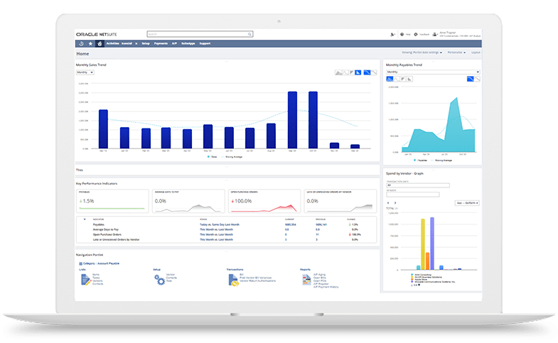 Oracle-Netsuite-dashboard